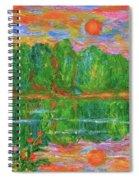 Lake Sunset Spiral Notebook