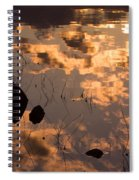 Lake Sunset Reflections Spiral Notebook