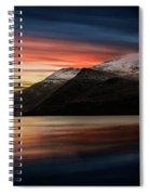 Lake Sunset Snowdonia Spiral Notebook