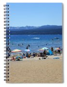 Lake Tahoe Beach Scene Spiral Notebook