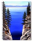Lake Tahoe Framed Spiral Notebook
