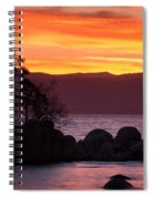 Lake Tahoe Sunset Colors Spiral Notebook