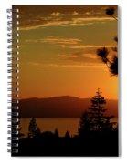 Lake Tahoe Sunset Spiral Notebook