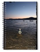 Lake Tahoe Sunset With Rocks And Black Framing Spiral Notebook