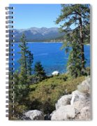 Lake Tahoe With Mountains Spiral Notebook
