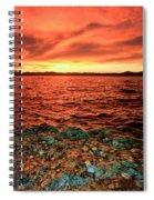 Lake Tahoe...blood Moon Sunset Spiral Notebook