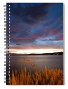 Lake Taupo Sunset Spiral Notebook