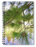 Lake View With Ponderosa Pine Spiral Notebook
