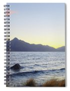 Lake Wakatipu At Sunset Spiral Notebook