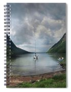 Lake Willoughby  Panorama One Spiral Notebook