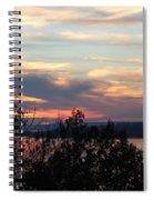Lakefront Sunset Spiral Notebook