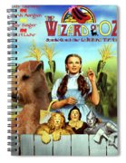 Lakeland Terrier Art Canvas Print - The Wizard Of Oz Movie Poster Spiral Notebook