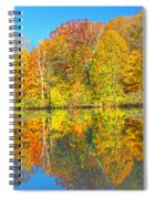 Lakeside Autumn Reflections Nj Spiral Notebook