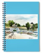 Lakeside Dock And Pavilion Spiral Notebook