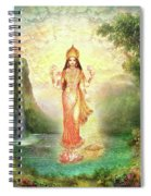 Lakshmi With The Waterfall 2 Spiral Notebook