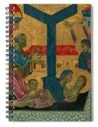 Lamentation Of The Dead Christ Spiral Notebook