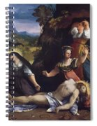 Lamentation Over The Body Of Christ 1517 Spiral Notebook
