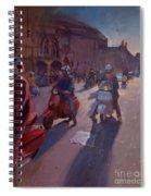 Lambrettas At Winchester Spiral Notebook