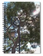 Lamp And Tree Spiral Notebook
