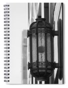 Lamp On The Wall Spiral Notebook