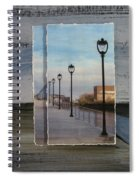 Lamp Post Row Layered Spiral Notebook