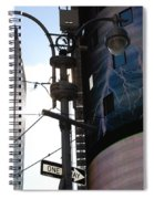 Lampost And Lightning Spiral Notebook