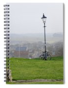 Lamppost And Bike. Spiral Notebook