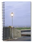 Lamppost. Night Is Coming. Spiral Notebook