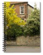 Lamppost On A Street Bend. Spiral Notebook