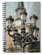 Lamppost Plaza Mayor Madrid Spain Spiral Notebook