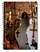 Lamps Inside The Church Of The Holy Sepulchre, Jerusalem Spiral Notebook