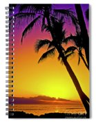 Lanai Sunset II Maui Hawaii Spiral Notebook