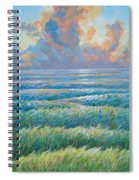 Land Becoming Sea Iv Spiral Notebook