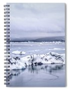 Land Of Ice Spiral Notebook