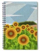 Land Of Sunflowers. Spiral Notebook