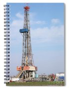 Land Oil Drilling Rig With Equipment On Oilfield Spiral Notebook