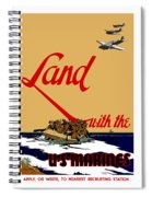 Land With The Us Marines Spiral Notebook