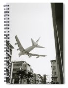 Landing In Hong Kong Spiral Notebook
