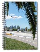 Landing In San Diego Spiral Notebook