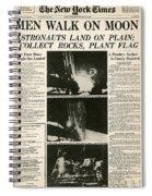 Landing On Moon, 1969 Spiral Notebook
