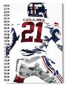 Landon Collins New York Giants Pixel Art 1 Spiral Notebook