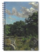 Landscape At Chailly Spiral Notebook