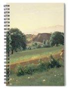 Landscape At Mornex Spiral Notebook