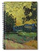 Landscape At Twilight Auvers Sur Oise June 1890 Vincent Van Gogh 1853  189 Spiral Notebook