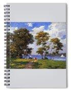 Landscape By The Shore Aka The Picnic Edward Henry Potthast Spiral Notebook