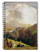 Landscape Figures And Cattle Spiral Notebook