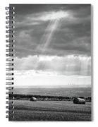 Landscape From Garrowby Hill, Yorkshire Uk Spiral Notebook