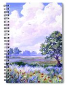 Landscape In Blues Spiral Notebook