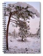 Landscape In Pastel Colors Spiral Notebook