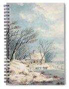 Landscape In Winter Spiral Notebook